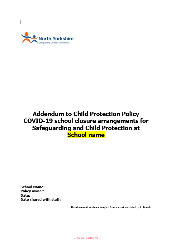 Covid Addendum to Child Protection Policy