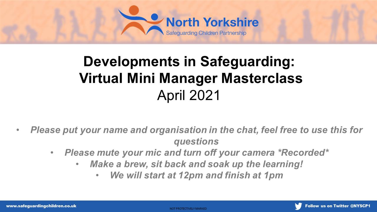 Watch our April Safeguarding Developments Mini Masterclass