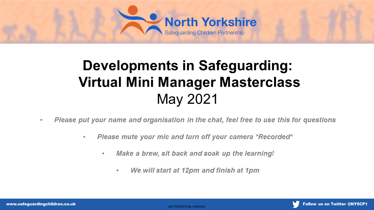 Watch the May Development in Safeguarding Manager Masterclass May 2021 presentation